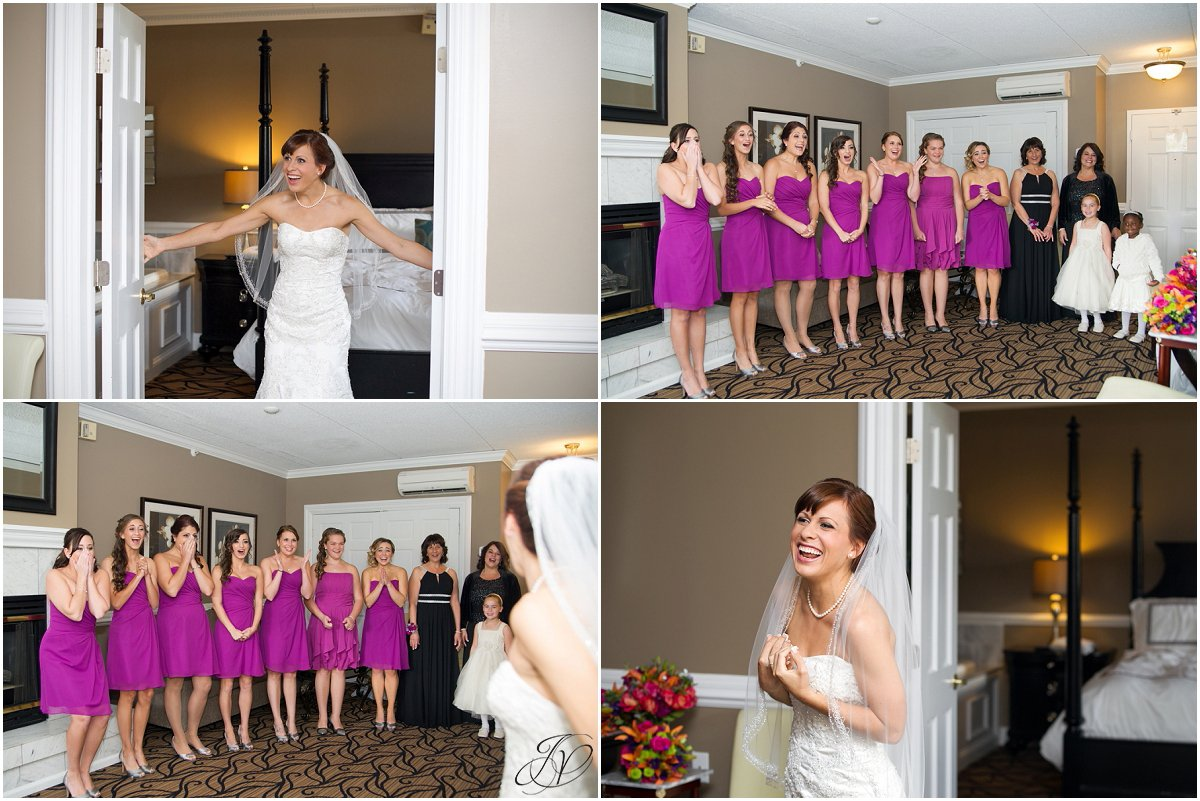 first look with bridesmaids glen sanders mansion wedding