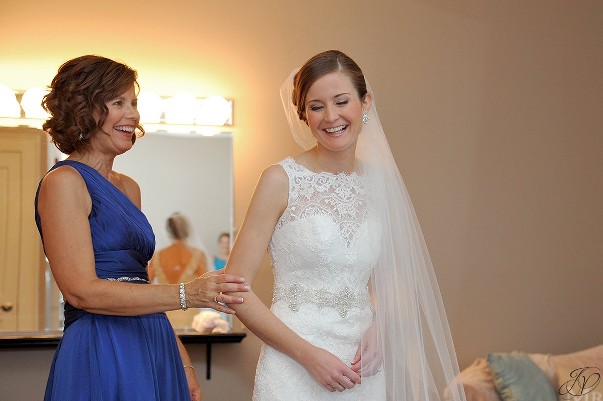 bride and mother share special moment