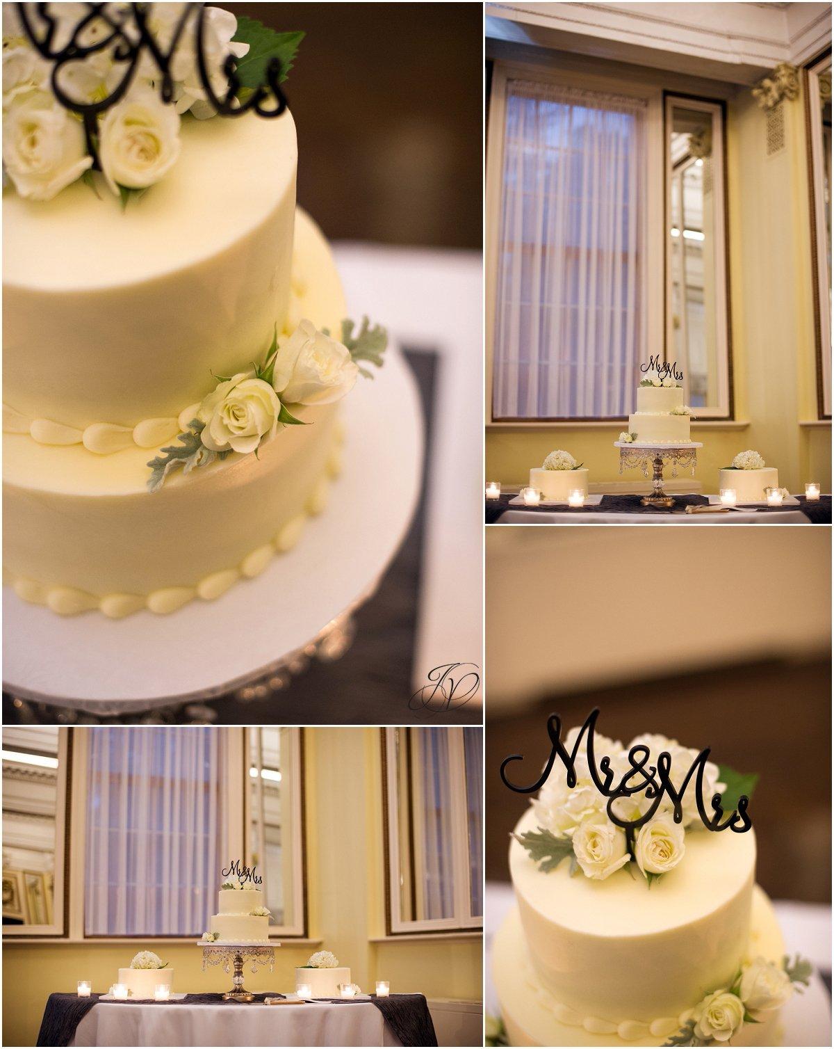 wedding cake details canfield casino ballroom