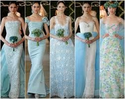 Powder Blue Wedding Dress Images