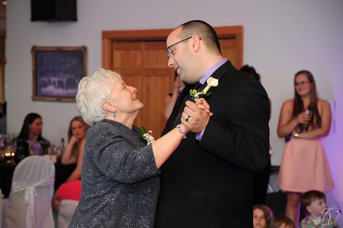 photo of groom dancing with his mother