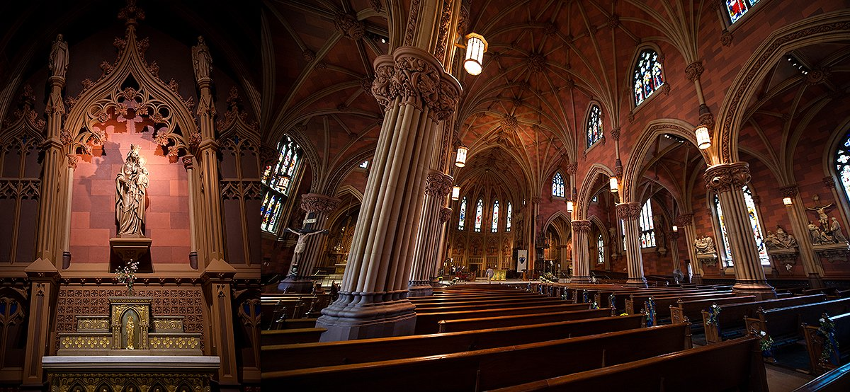 interior of The Cathedral of the Immaculate Conception