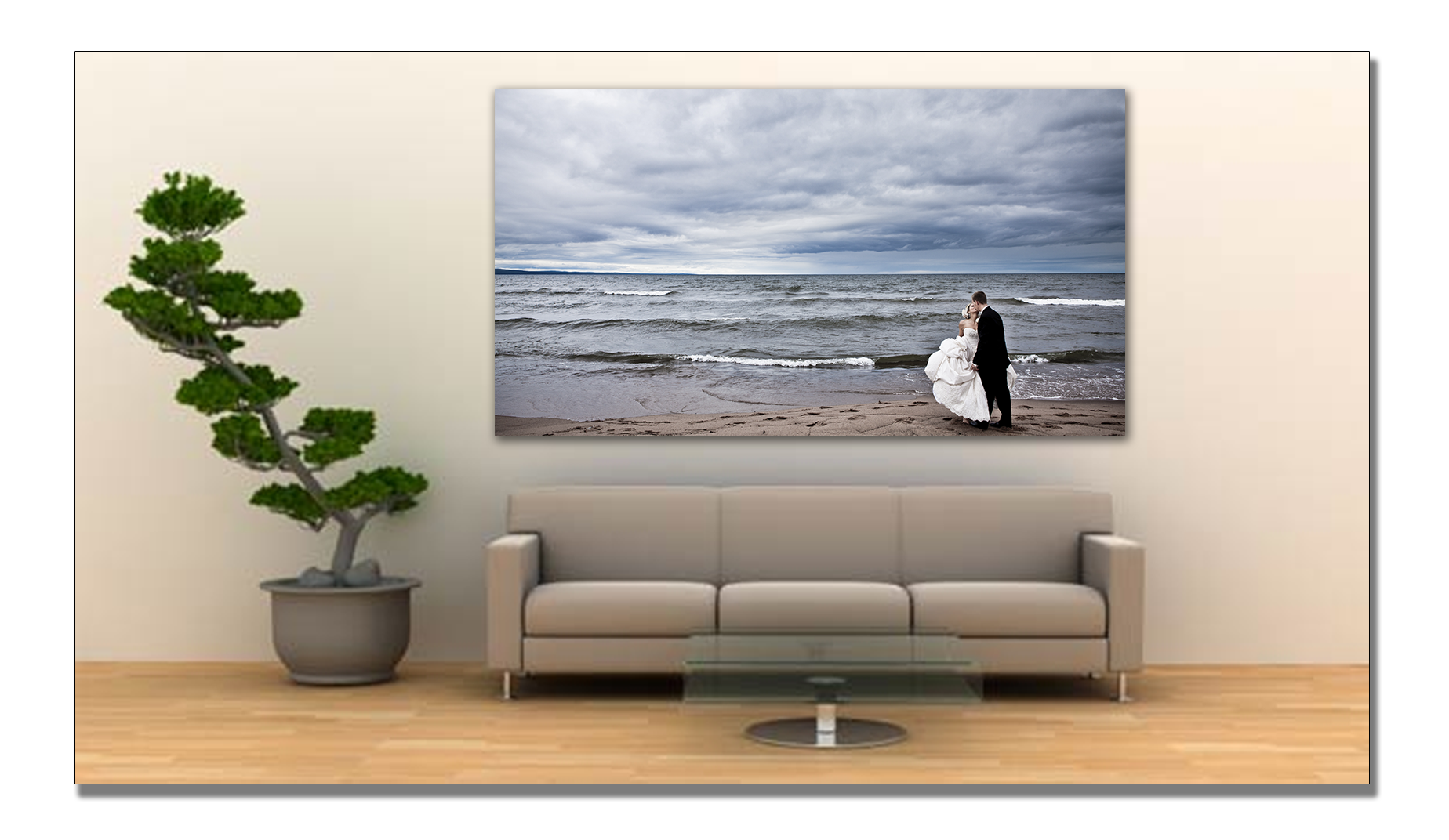 MN wedding photo canvas