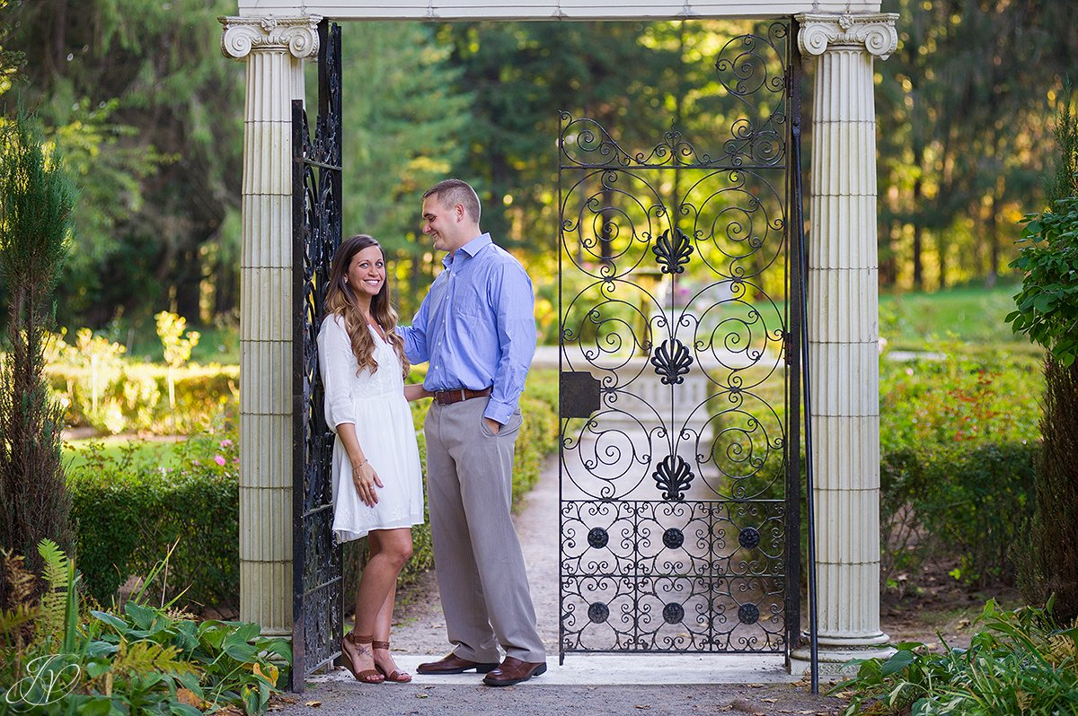 gorgeous couple in yaddo gardens
