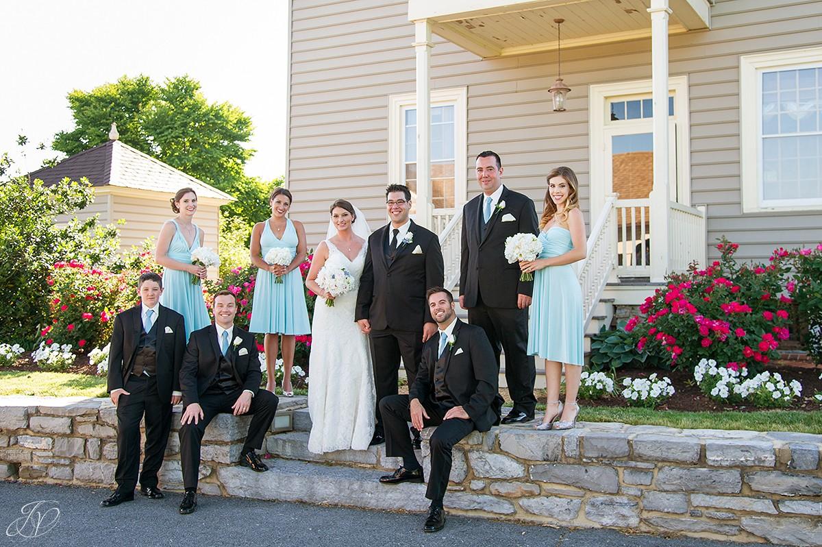 fun bridal party portrait shenandoah valley golf club
