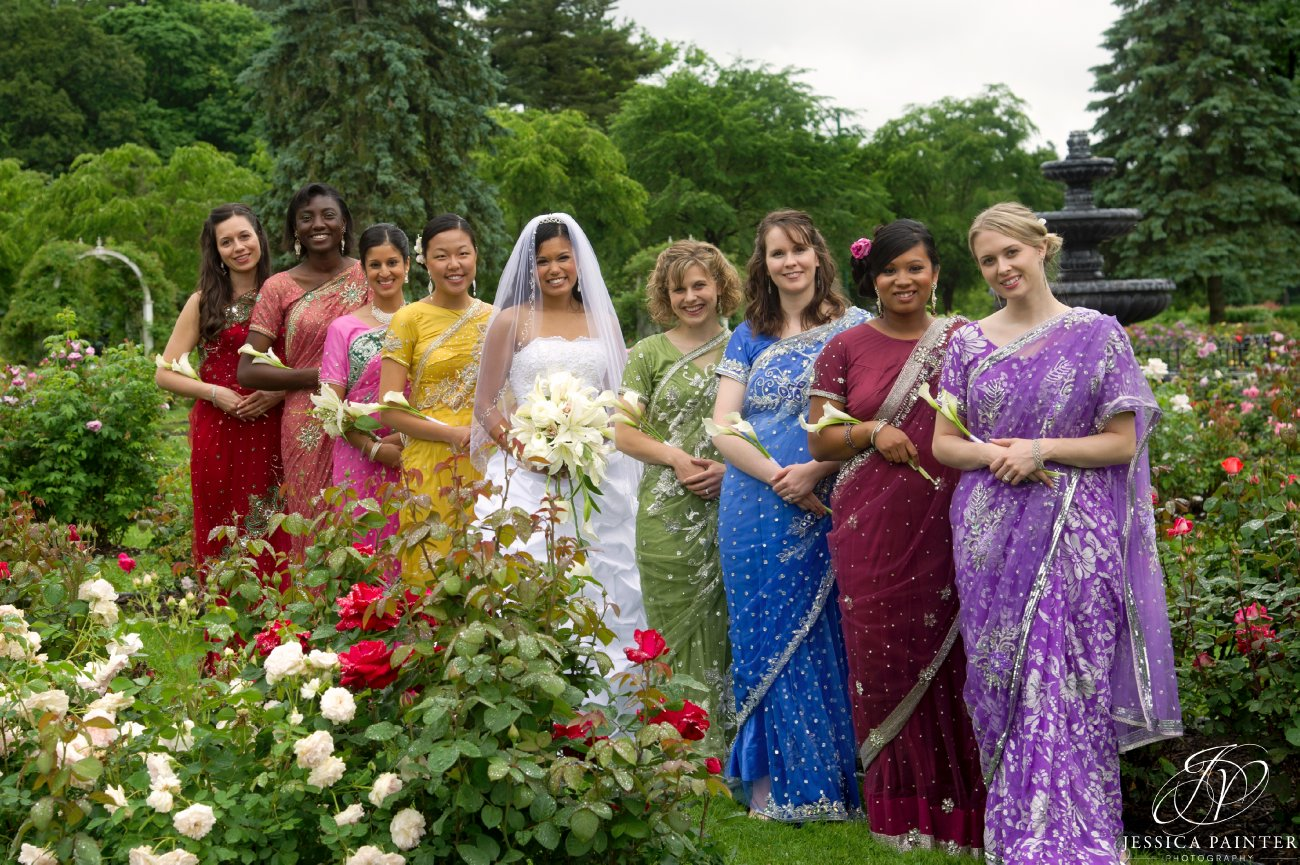 albany wedding, schenectady wedding, Schenectady rose garden, bridal party