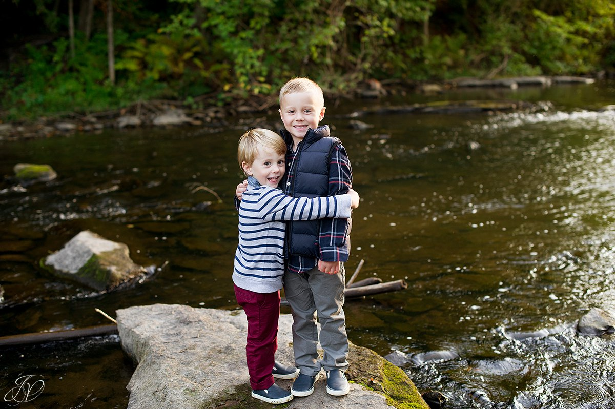 family portrait fall water saratoga springs