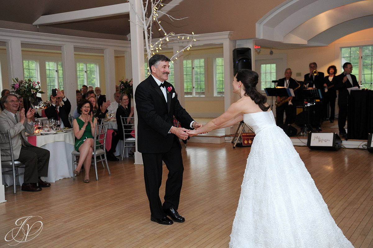 bride with father first dance photos, bride and father dancing photo, wedding reception photos, albany wedding photos