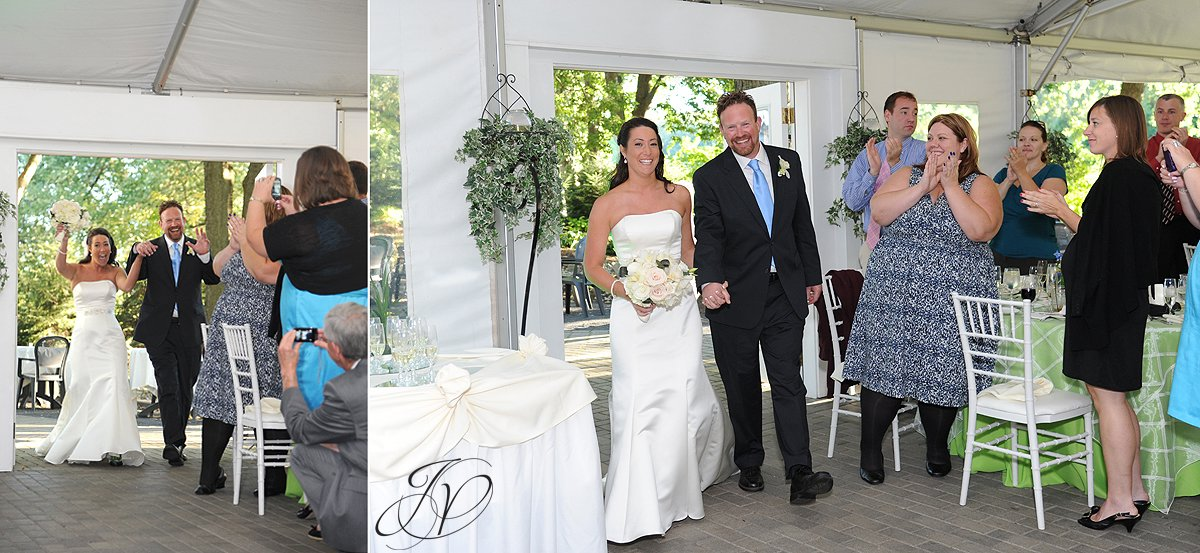 announcing the bride and groom, riverstone manor, reception detail photo, schenectady wedding photographer