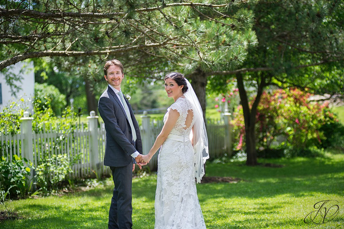 bride and groom in garden photo, first look at pruyn house, bride and groom portrait, pruyn house wedding, Wedding at The Pruyn House, Albany Wedding Photographer