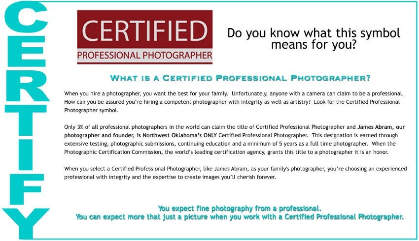 James Photographic Design - Certified Professional Photographer