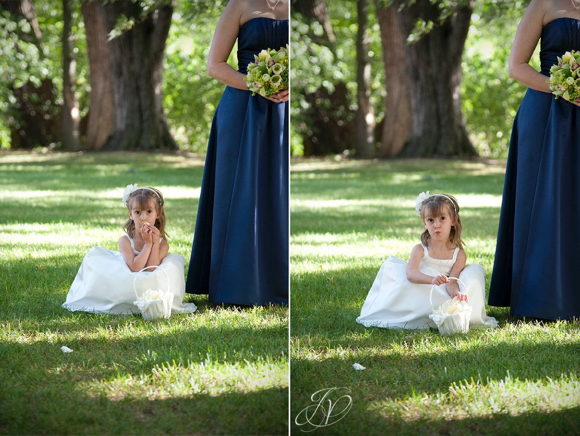 riverstone manor, flower girl photo, schenectady wedding photographer