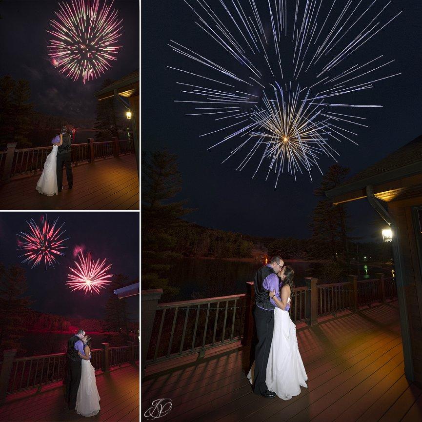 fireworks at a wedding, unique wedding fireworks shot