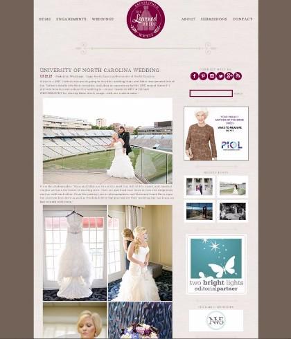 charlotte wedding photographer published featured wedding photography the learned bride wedding blog unc photo
