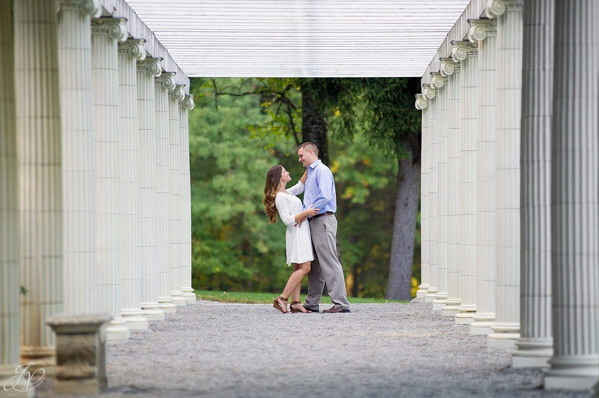 engagement photos in yaddo gardens saratoga springs ny