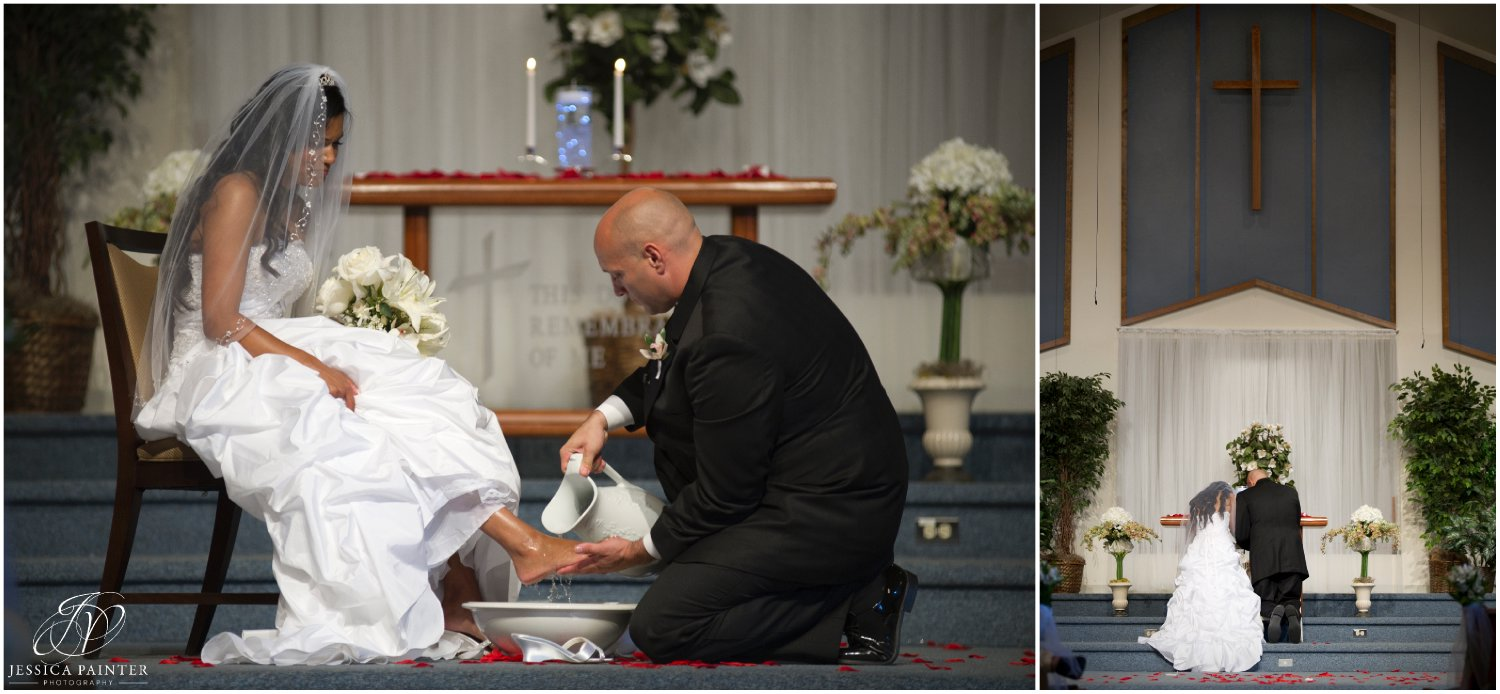 albany wedding, schenectady wedding, bride and groom foot washing ceremony
