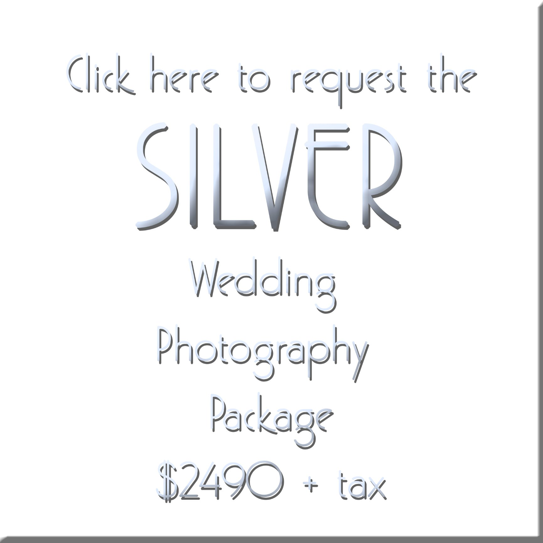 SILVER wedding photography pacakge form