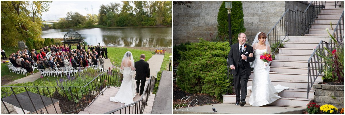 father walking daughter down the aisle glen sanders mansion wedding