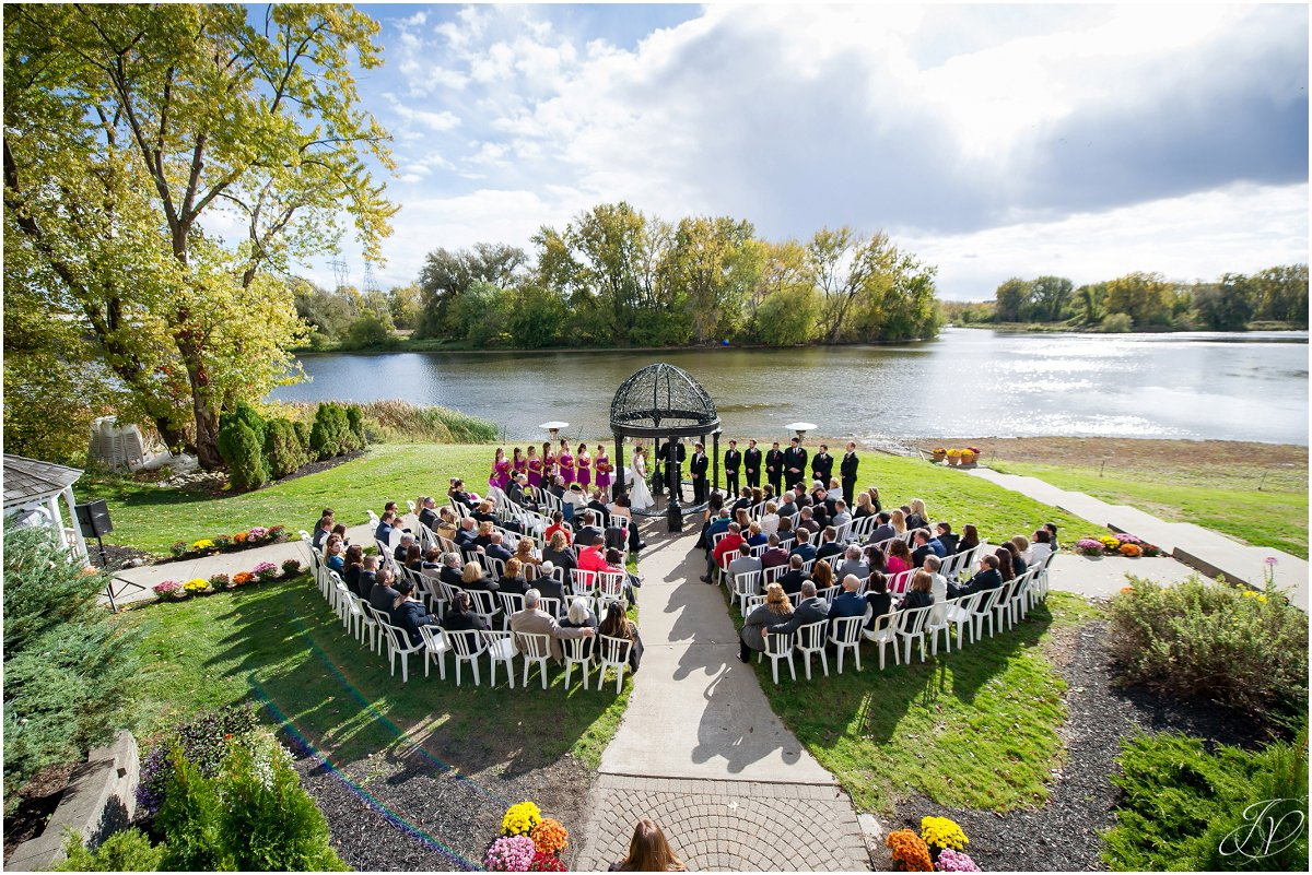 aerial photo of ceremony glen sanders mansion wedding