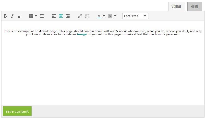How do I set up an Info Page on my Builder? - PhotoBiz