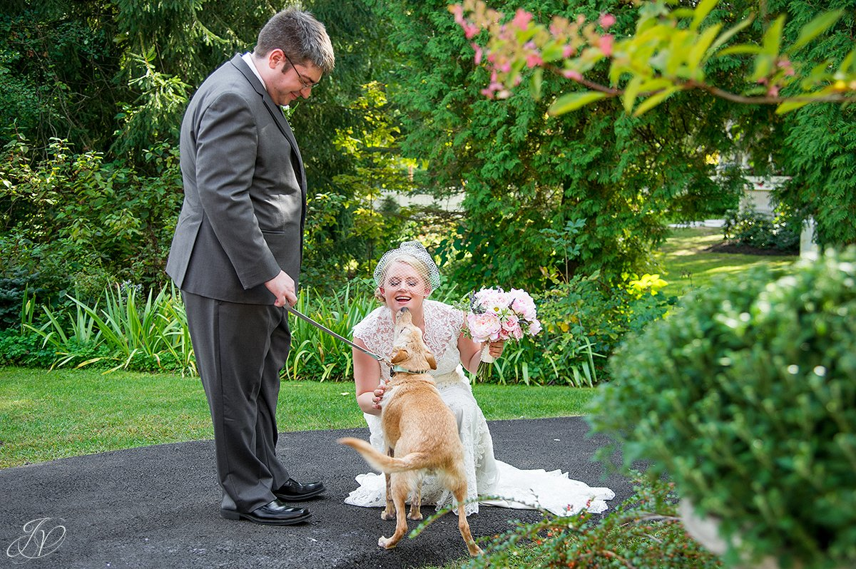 bride and groom first look albany wedding photographer