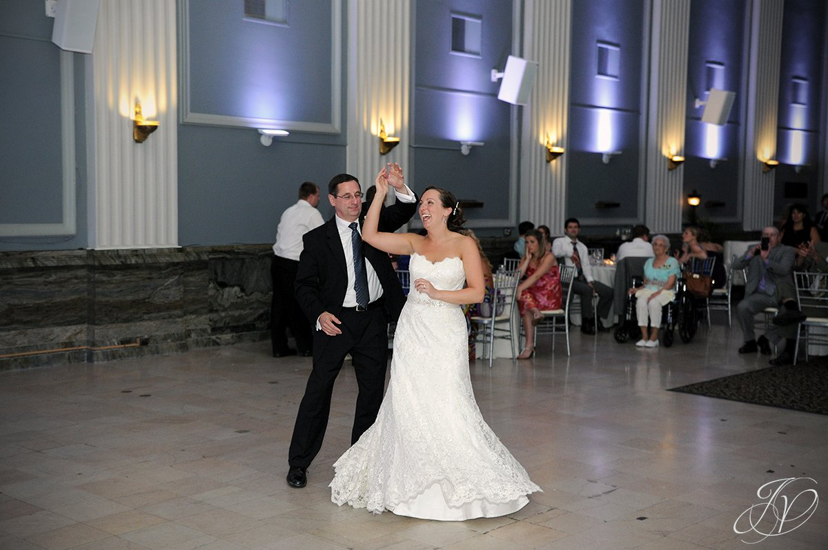 bride and father dance, father and bride dance, , Schenectady Wedding Photographer, Key Hall Proctors reception
