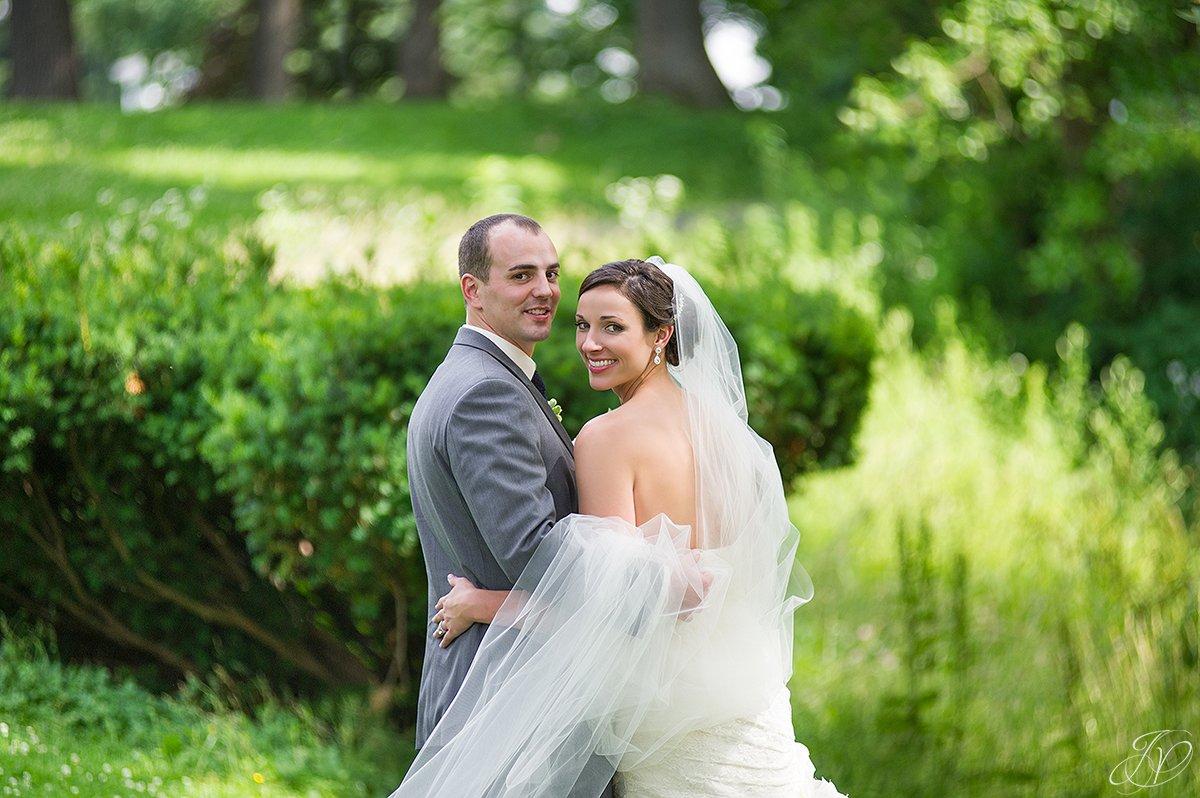 beautiful bride and groom shot in congress park