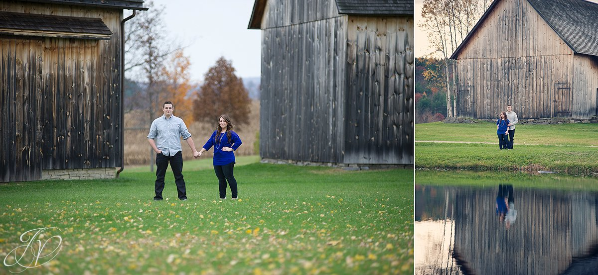 fall engagement photos, Albany Engagement Photographers, Historic Barns of Nipmoose, on location engagement session, outdoor engagement shoot