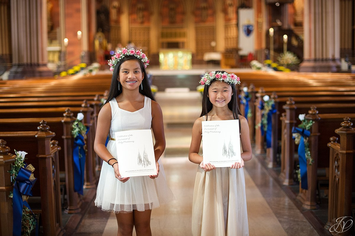 albany wedding photographer, albany cathedral wedding, flower girls