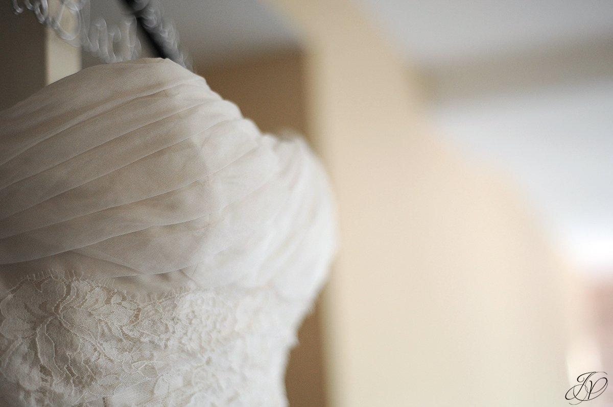 unique bridal gown detail shot