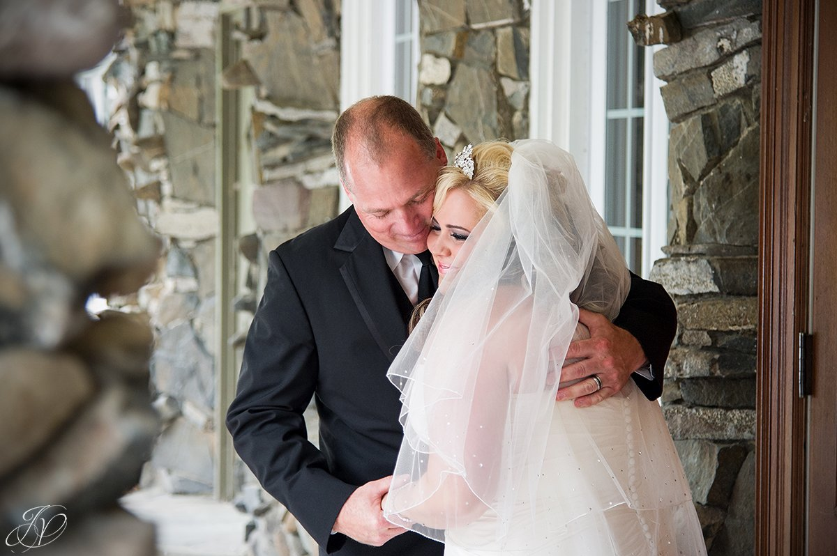 sweet moment between bride and father