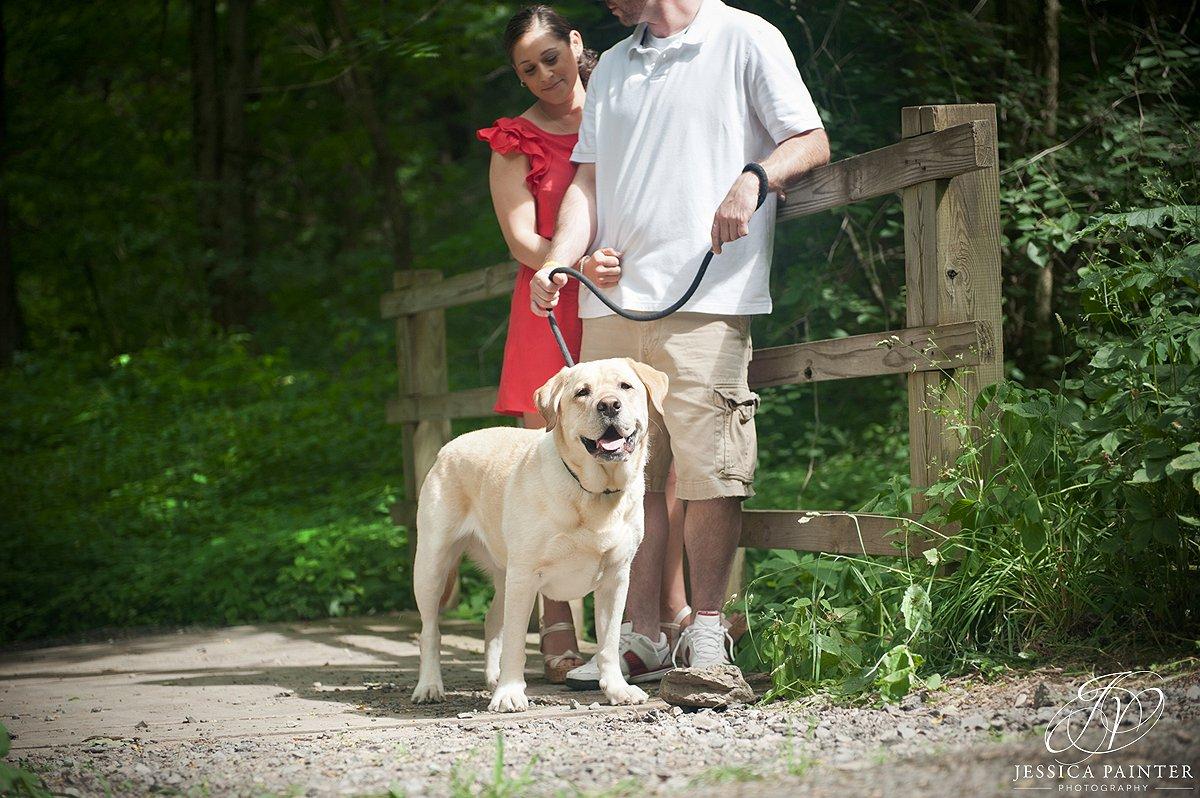 Albany engagement photographer, john boyd thacher state park, engagement photo, on location photo, location photography, pet photo, dog photograph