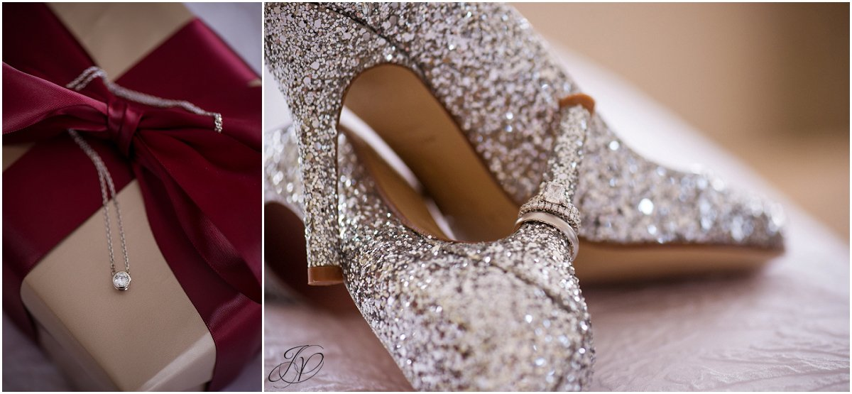 wedding bling details sparkly shoes
