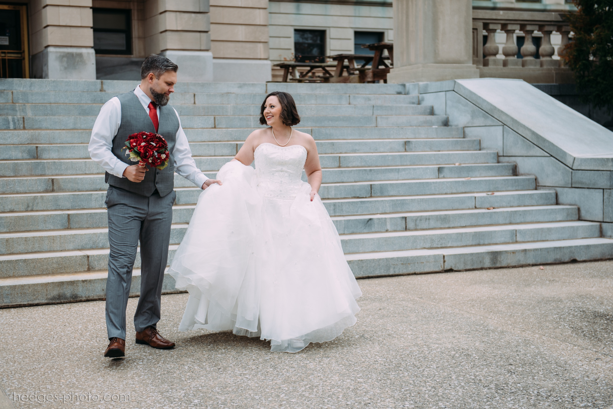 Rick and Domonique, Classic downtown elopement in Frankfort KY ...