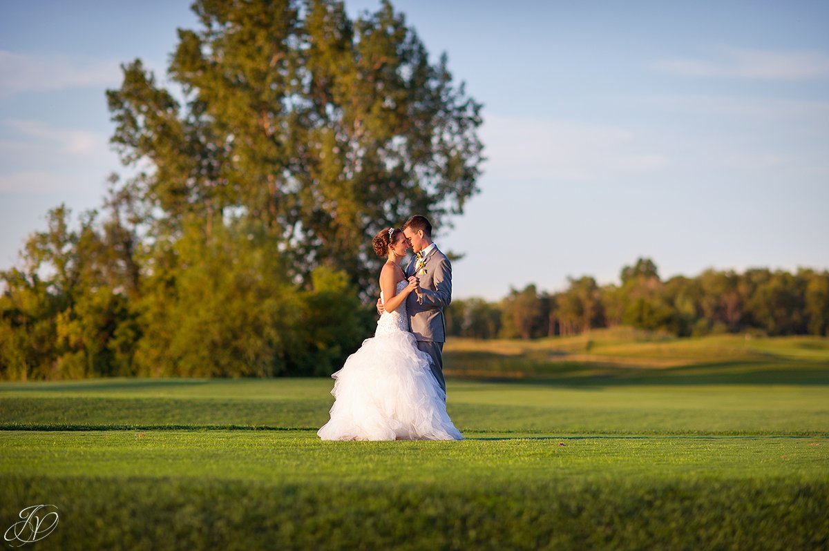 sunset bride and groom Arrowhead Golf Club