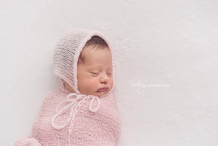 Newborn baby studio portrait taken at RI portrait studio
