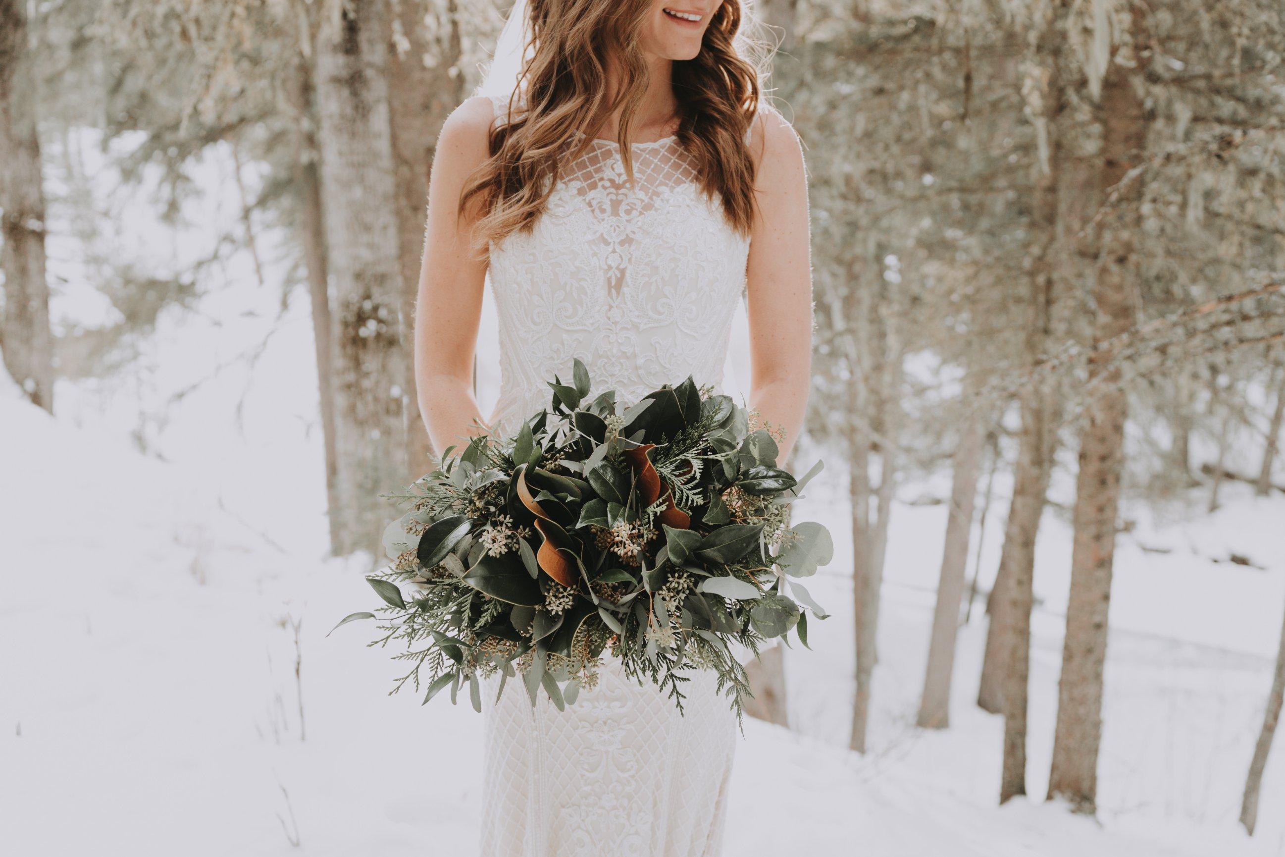 Winter Bridal Bouquets