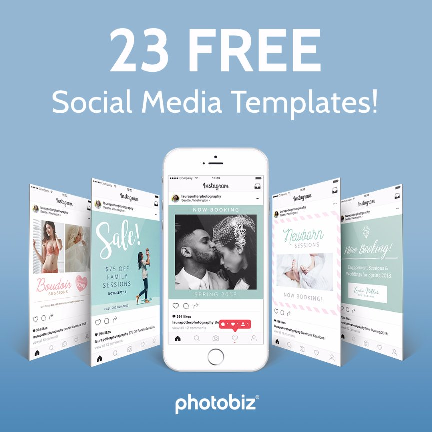 free download 23 social media templates photobiz growth hub