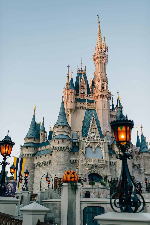 Cinderella's castle fall decorations, Cinderella's castle Halloween