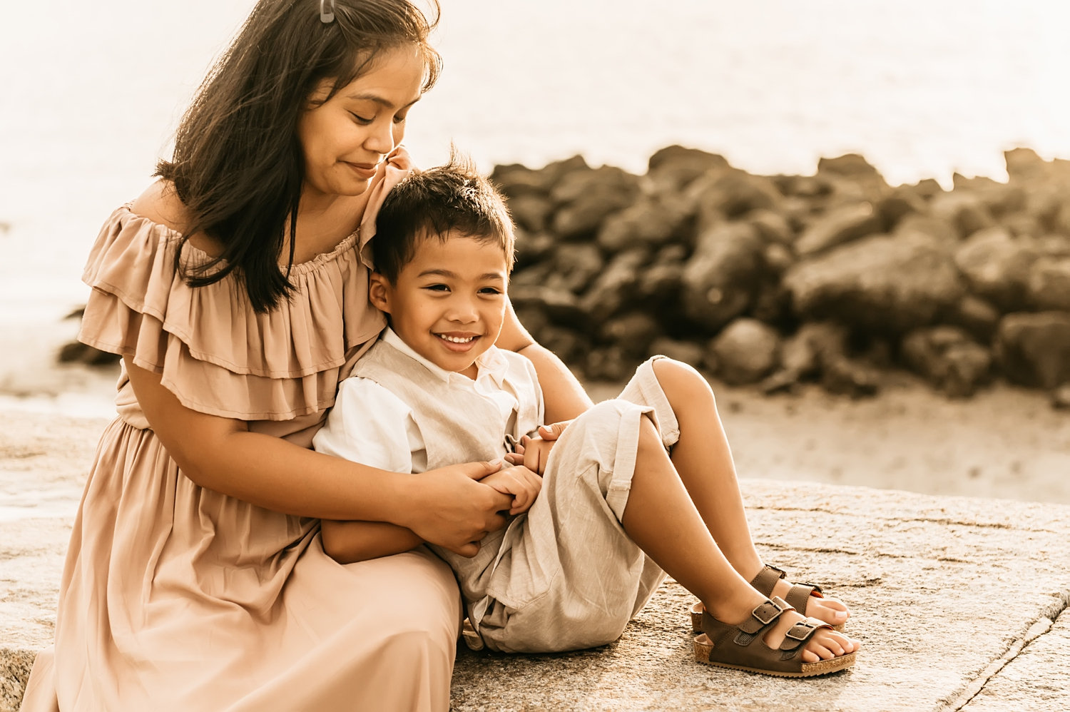 mom and son portrait, St. Augustine family photography, Rya Duncklee